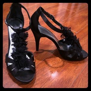 RUFFLED Black Heels by Style & Co